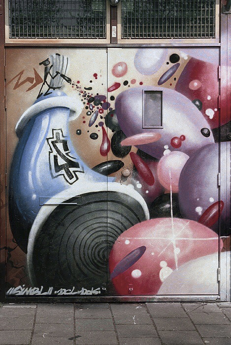simbl, spray can, graffiti, street art,